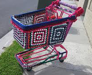 yarn_bomb_shopping_cart